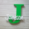 Personalised Wooden Letters - Green