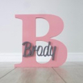 Personalised Wooden Letters - Pink