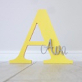 Personalised Wooden Letters - Yellow