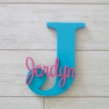 Personalised Wooden Letters - Aqua