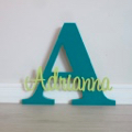 Personalised Wooden Letters - Teal
