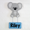 Kids Door Plaque - Koala Boy