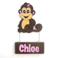 Kids Door Plaque - Monkey Girl