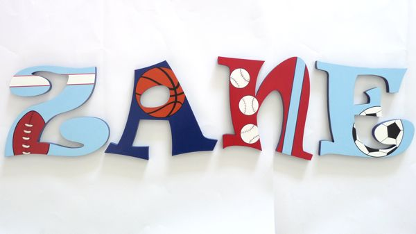 Wooden Letters 6mm All Sports A Brush Of Imagination