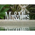 Mr and Mrs - 18cm High - Font 2