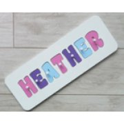 Personalised Name Puzzle - Lolly, Purple and Sky Blue
