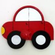 Kids Coat Hook Car Red A Brush Of Imagination