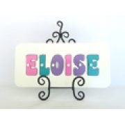 Personalised Name Puzzle - Pink, Sea Green and Purple
