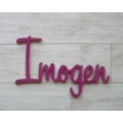 Kids Wooden Name in Sweet font - 18mm x 15cm